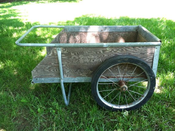 vintage garden cart wagon by on etsy
