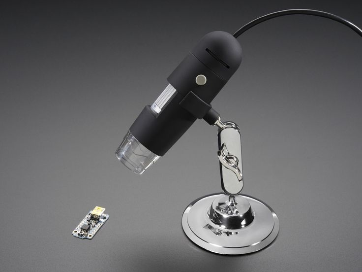 USB Microscope - 5MP interpolated 220x magnification / 8 LEDs.  http://www.adafruit.com/product/636