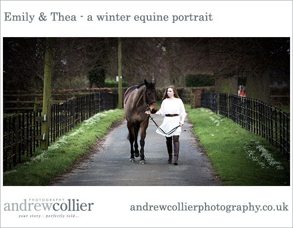 Emily & Thea - A winter equine portrait session