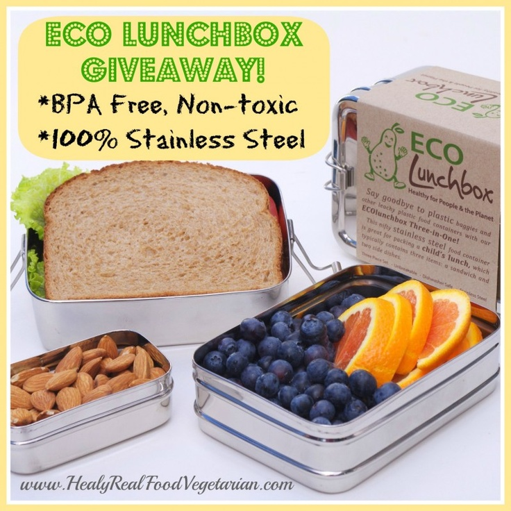 Stainless Steel ECO Lunchbox Giveaway! @ Healthy Real Food Vegetarian