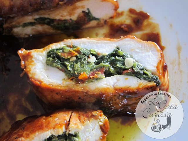 Las 25 mejores ideas sobre pechugas de pollo rellenas en for Maneras de cocinar espinacas