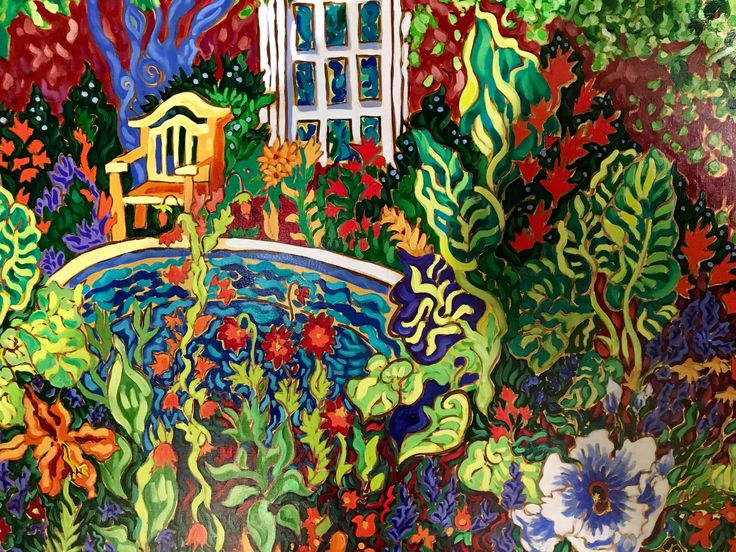 Lewis Ginter Botanical Garden painted by VCU Arts alum http://m.styleweekly.com/richmond/new-exhibition/Event?oid=2377186