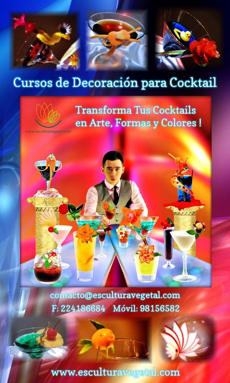 Decora Tus Cocktails con la Técnica de Esculturavegetal.com Para contactarnos y conocer detalles de nuestros cursos y productos, puede solicitarlo desde : www.esculturavegetal.com contacto@esculturavegetal.com F: (562) 24186684 Ce: (569) 98156582
