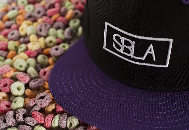 Box Logo Snapback – Purple / Black | SBLA // Skinny Brunette Lifestyle Association #gettincereal fruit loops!
