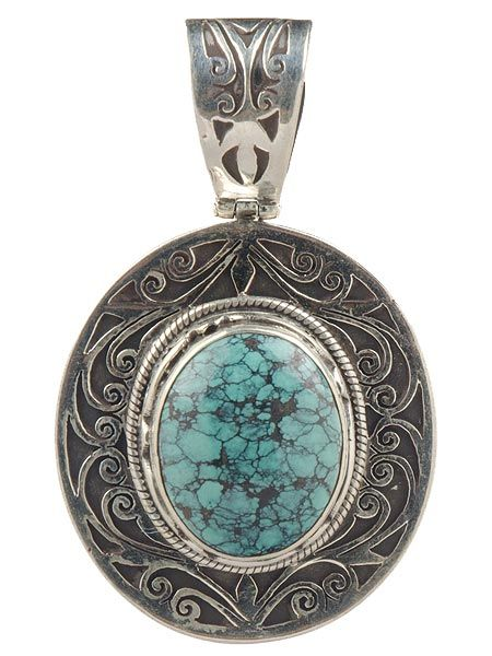 Beautiful semi precious stone silver pendant which has been hand cut in Nepal. This pendant is guaranteed 925 silver.