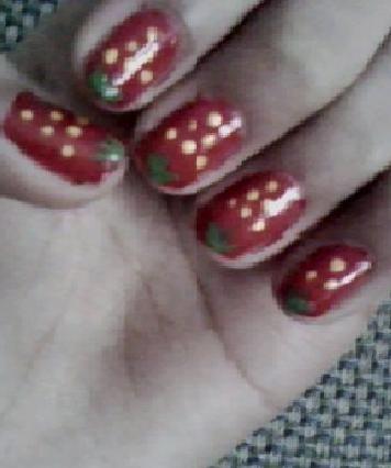 my strawberry nails