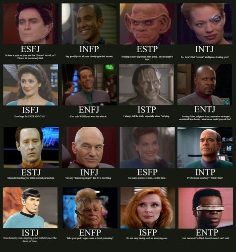 Myer Briggs Star Trek- I'm ENFP N I have no clue who that character is lol- someone clue me in