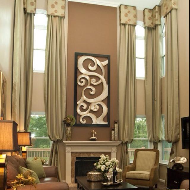 High-ceiling-curtain-design &