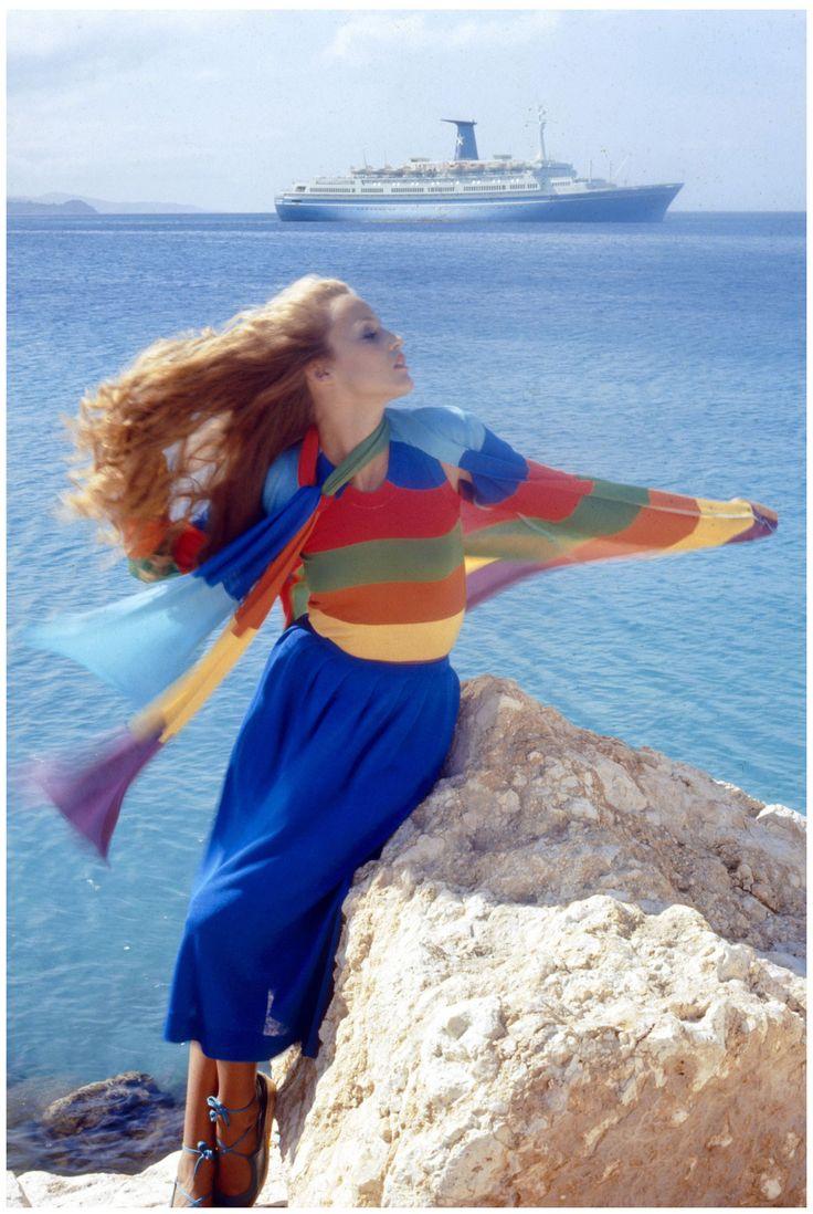Jerry Hall Vogue 1975 Photo Norman Parkinson