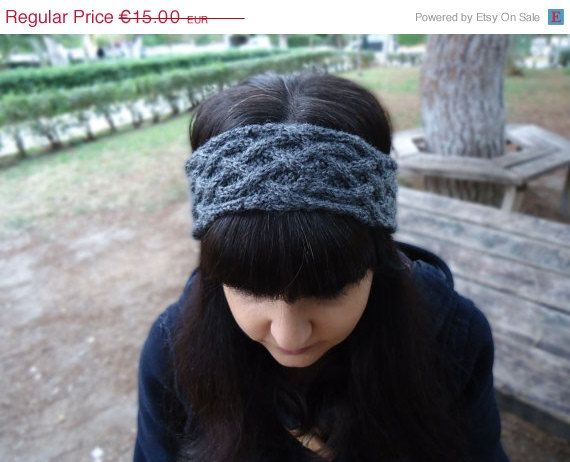 Cable knit headbandwomen's knit headband knit wool by AlkistiKnits #headband #knitheadband #earwarmer #womensheadwrap #winteraccessories #womensknitwear