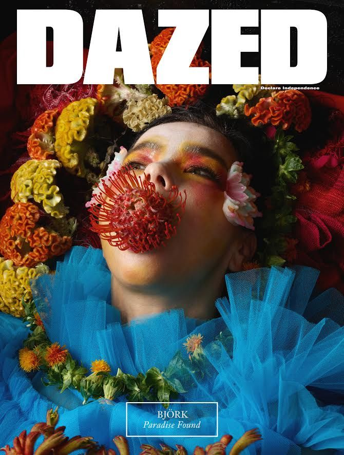 Björk blossoms on the cover of Dazed Photography Jesse Kanda Styling Robbie Spencer On sale August 3rd