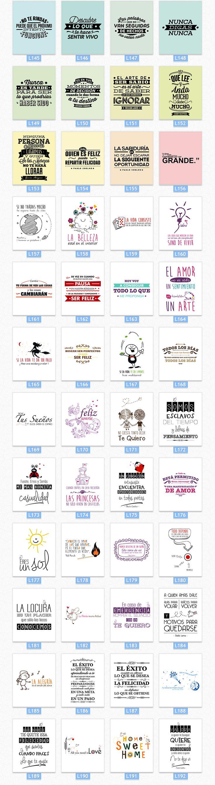 Cuadros Impresos Con Frases De La Vida +400 Diseños - $ 99,99 en Mercado Libre