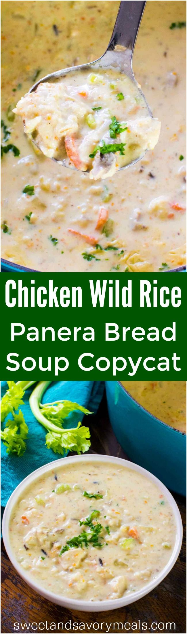 Easy Panera Bread Chicken Wild Rice Soup Copycat is the easy homemade version of the chain's comforting, hearty and creamy soup.