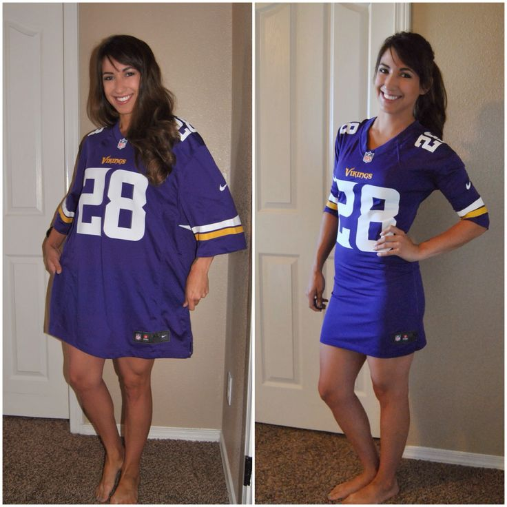 Sew Much More than Rubies: Football Jerseys refash into dress--this would be so cute to add lace ruffle at the bottom!