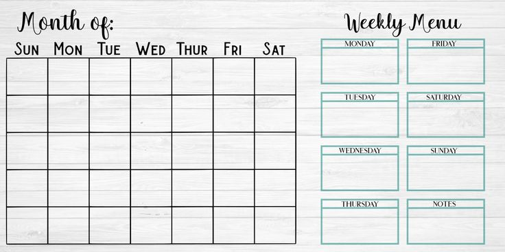make monthly calendars