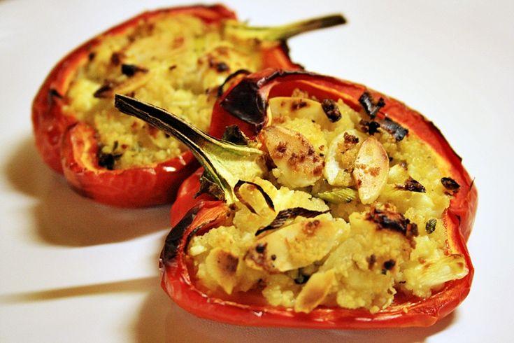 Zapečené papriky s kuskusem