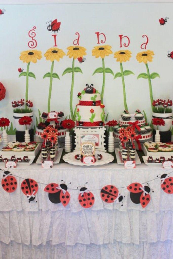 Lovebug 2nd Birthday Party via Kara's Party Ideas | Kara'sPartyIdeas.com #lovebug #ladybug #2nd #birthday #party #ideas #supplies #decorations (2)
