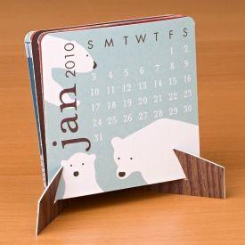 PS Mini Desk Calendar folded in easel2
