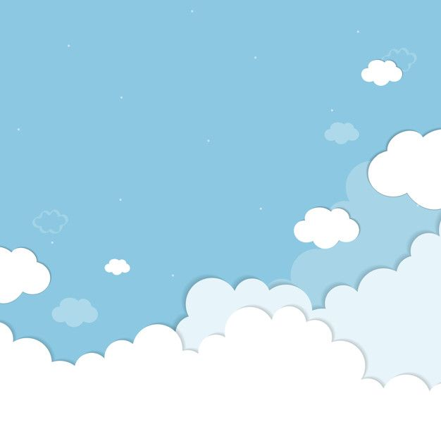 Blue sky with clouds patterned background vector Free Vector