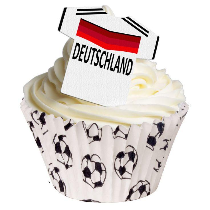 essbar Fussball Trikot Deutschland Muffin Tortenaufleger backen T-Shirt NEU dvd