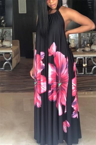 469ee61b6e9 Long Sleeve Digital Ptinted Stripe Dress