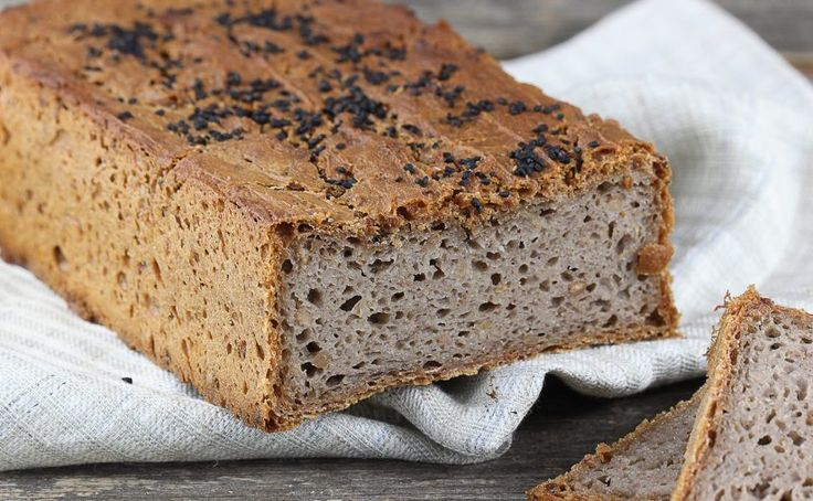 Domowy chleb gryczany z czarnuszką   Ania gotuje
