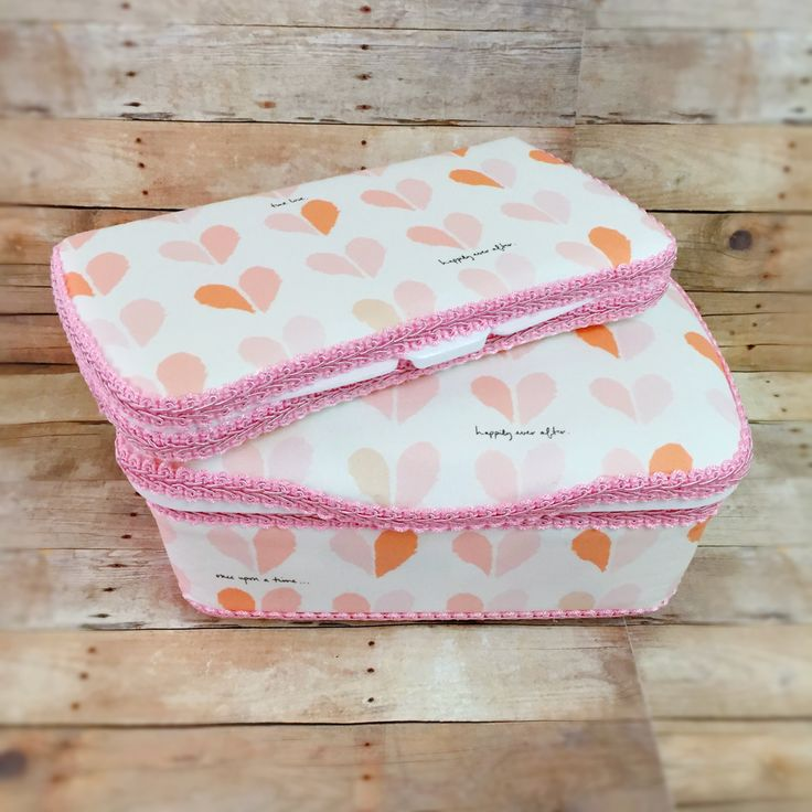 Pink baby wipe case set of 2 blush diaper wipes and pink heart nursery wipes case hearts baby wipes box pink diaper clutch hearts diaper bag by Ajobebe on Etsy
