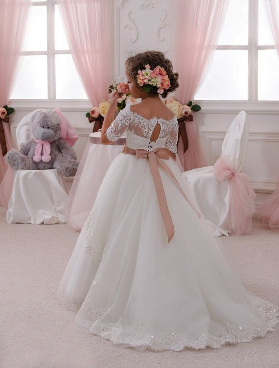 Niña de las flores vestido tul niño niña de las por PrincesByDarina