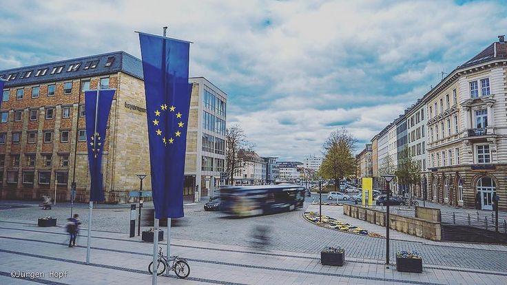 Bayreuth zeigt Flagge für Europa.  European city Bayreuth. : @imagejoe  #bayreuth #bayern #bavaria #deutschland #germany #europa #europe #luitpoldplatz #franken #franconia #igers #igersfranconia #ig_germany #igdaily #instagram #instadaily #foreurope