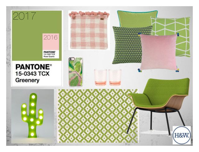 """""""2017 Pantone Colour of the Year - Greenery"""" by rachael-27 on Polyvore featuring interior, interiors, interior design, home, home decor, interior decorating, Dash & Albert, Herman Miller, Casetify and Mina Victory"""