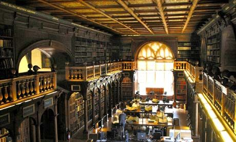 Do you have any Danielle Steele? . . . Duke Humfrey's Library at the Bodleian in Oxford Photograph: John Downing/Rex