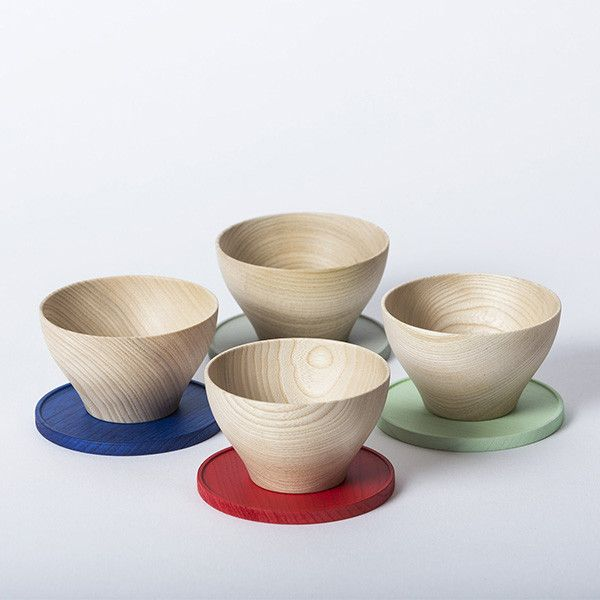 Wooden cups and saucers by studio mute