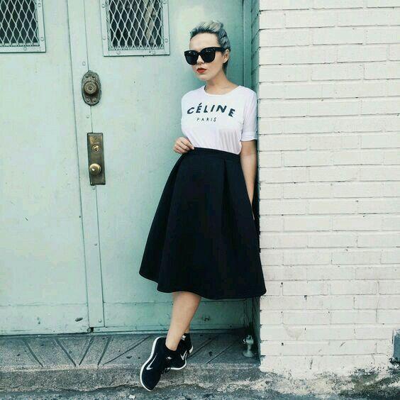 Saias: dicas e inspirações em vários comprimentos. em 2020 | Looks, Moda, Looks evangélicos