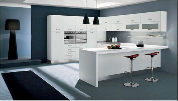 white kitchen cabinets, λευκά ντουλάπια κουζίνας, διακόσμηση κουζίνας