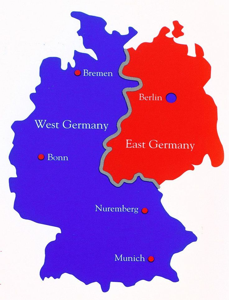 Map of Divided Germany - John F. Kennedy Presidential Library & Museum