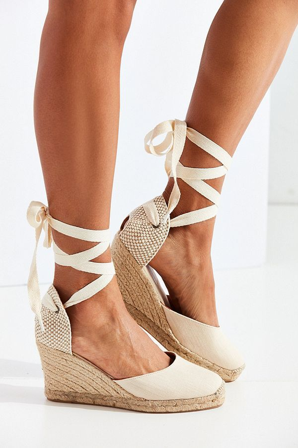 Soludos Linen Espadrille Tall Wedge Sandal Shoes Heels
