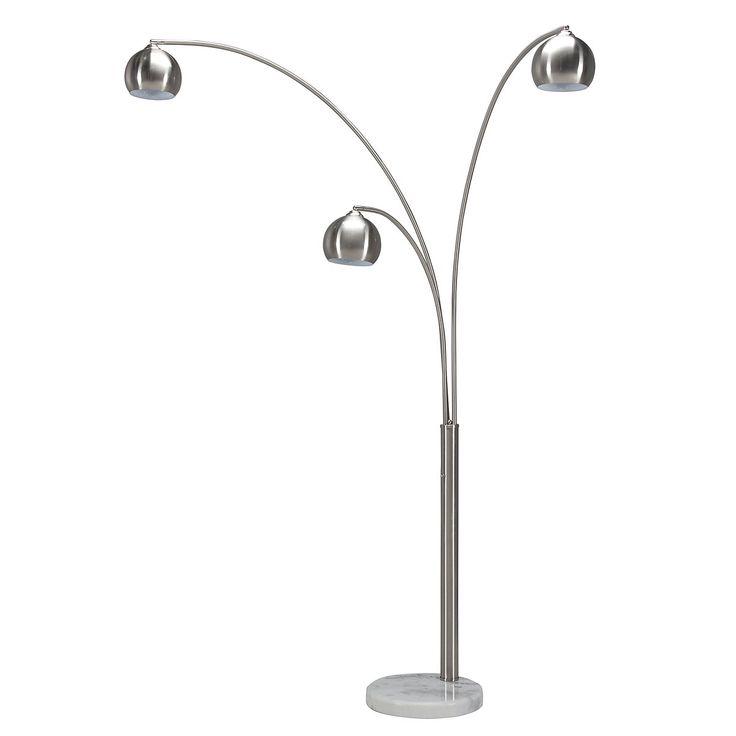 Town Silver Arc Floor Lamp