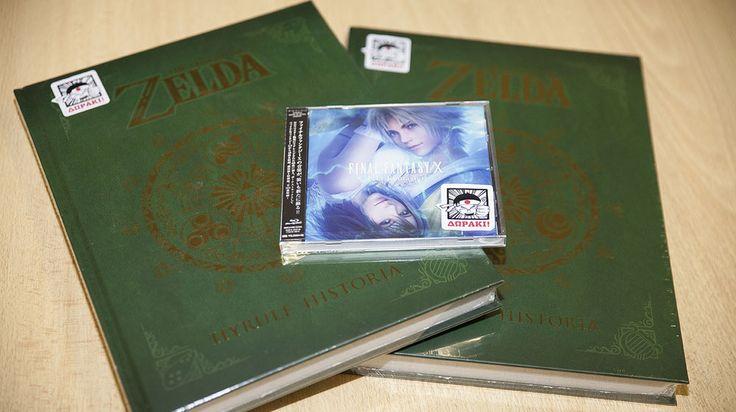 2 βιβλία Zelda και 1 Final Fantasy Χ OST