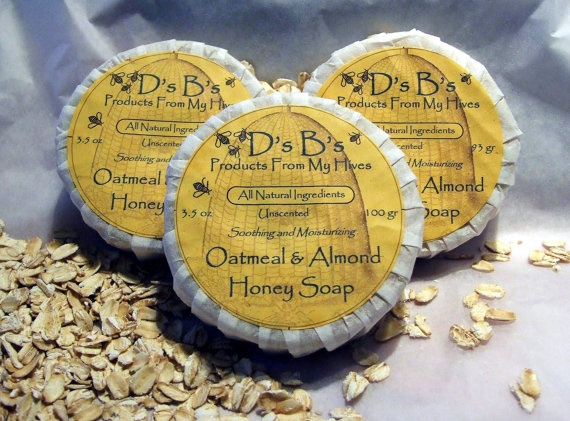 Oatmeal Almond Honey Soap Great for Dry Itchy Skin by DsBs on Etsy, $5.00--- LOVE!