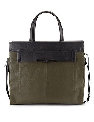 Leather Tote Bag   M&S