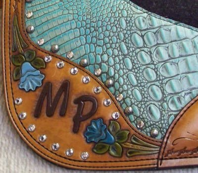 Monogrammed saddle pads? Look at that detail ... lovely.