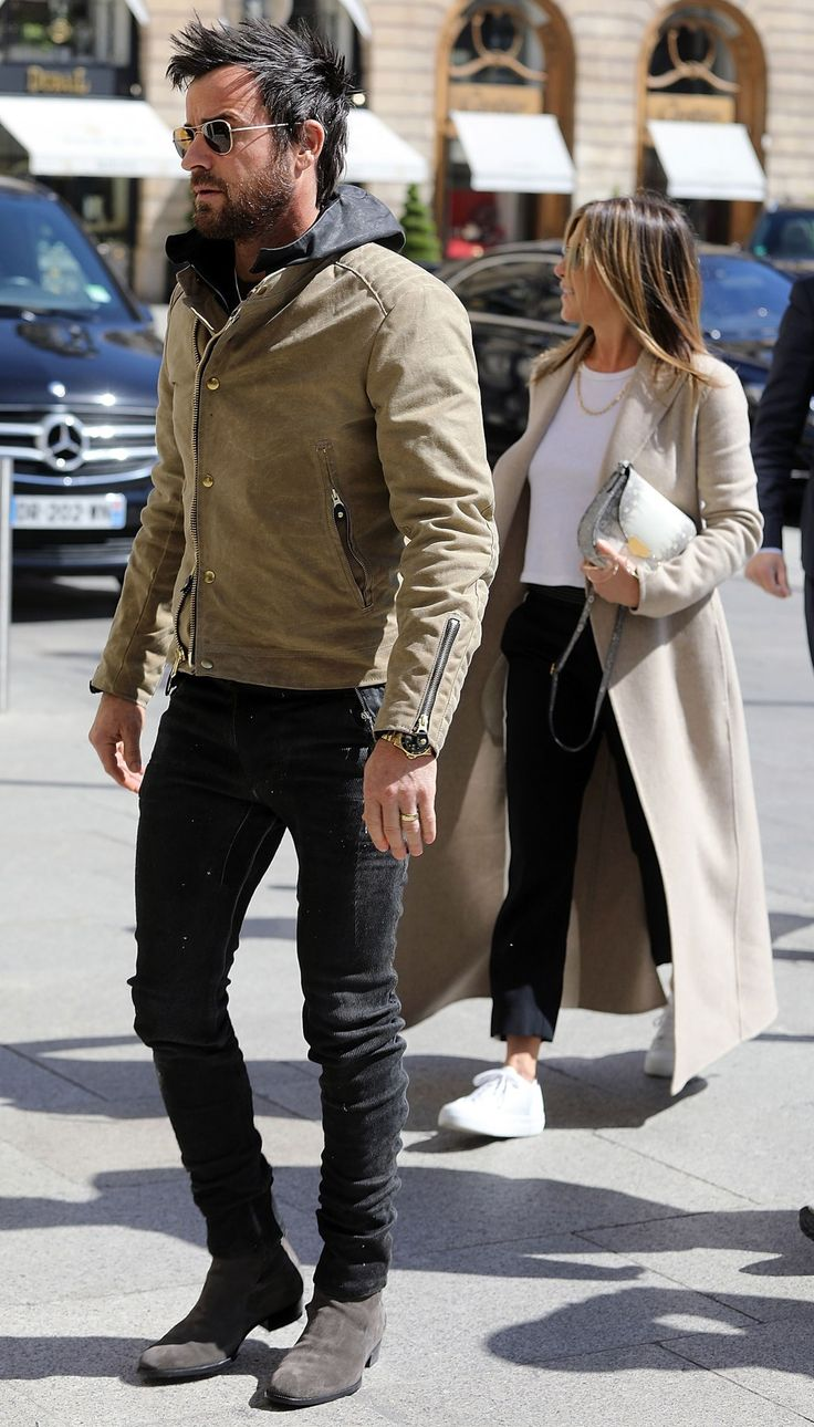Jennifer Aniston and Justin Theroux Continue Their Coordinating Couples' Style Streak in Paris
