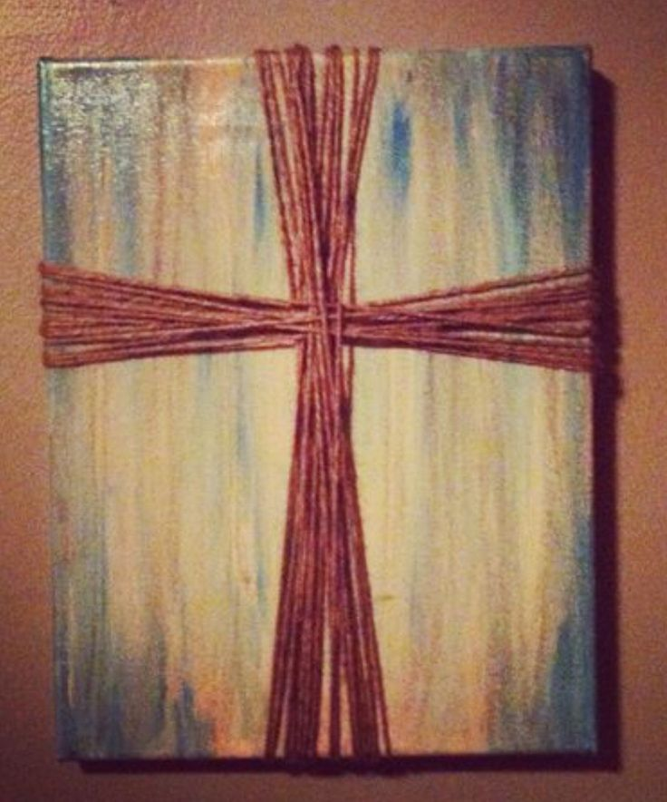 CROSS CANVAS ART (2-Day Elective): Paint a canvas in decorator colors & add a cross in a different way. For boys & girls).