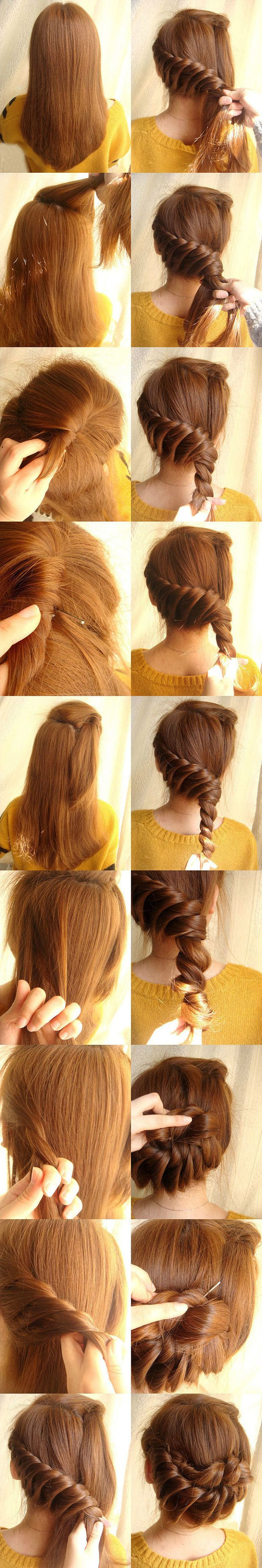 Twist braid up do: Hairstyles, Hair Styles, Makeup, Braids, Beauty, Hair Twist, Updo