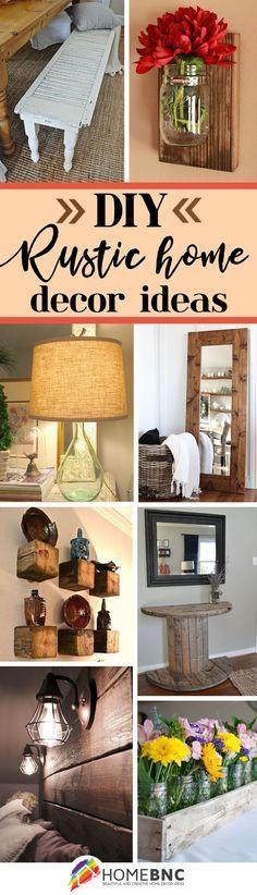 DIY Rustic Home Decor Ideas.... LOVE all these ideas