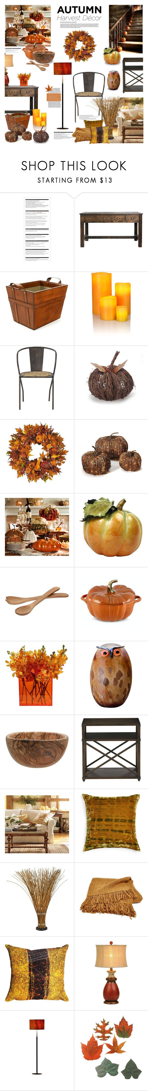 """""""Autumn Harvest Decor"""" by margaretferreira ❤ liked on Polyvore featuring interior, interiors, interior design, home, home decor, interior decorating, Arche, Klein & more, Nearly Natural and Pottery Barn"""