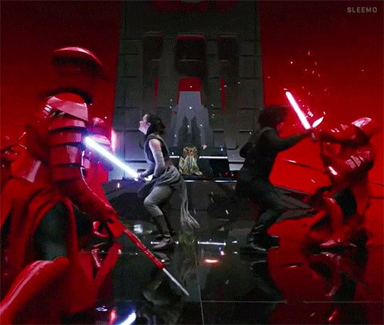 One of the most epic scenes in The Last Jedi!<<< The only good scene