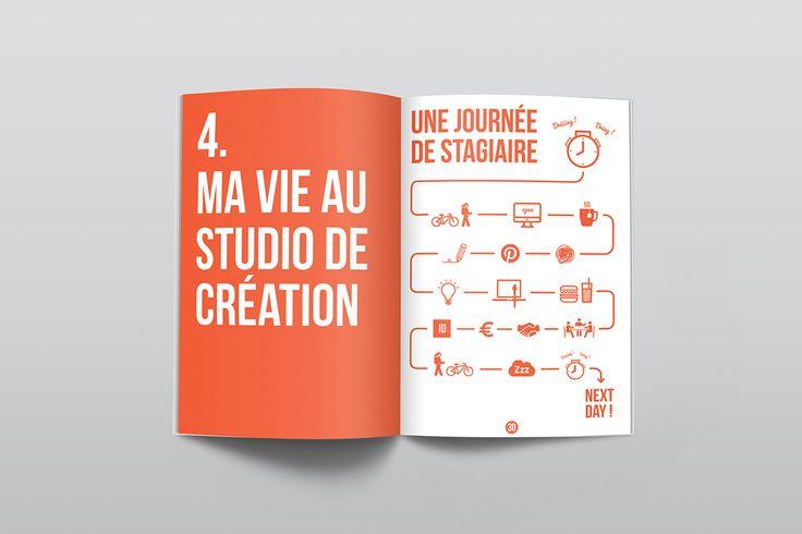 Durant mon stage de fin d'étude à la Helha, j'ai réalisé un rapport de stage à l'image du studio de création où je l'avais ef