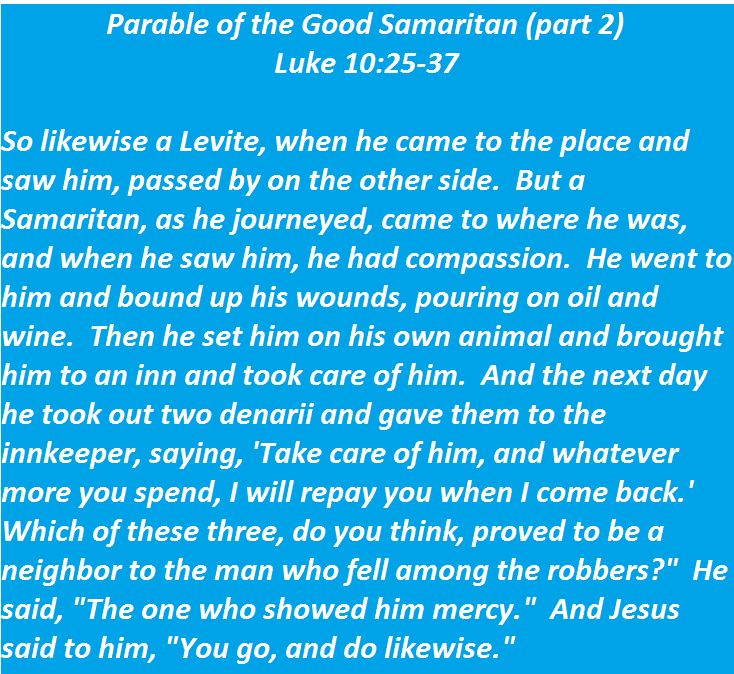 Parable of the Good Samaritan (part 2) - Luke 10:25-37