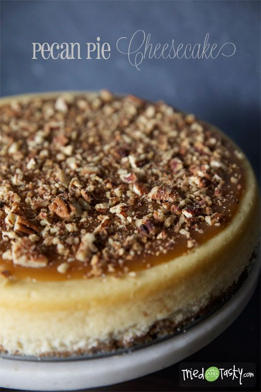 Pecan Pie Cheesecake - This is so fantastic that you should pick & choose where you want to share the BEST CHEESECAKE YOU EVER ATE!
